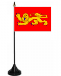 Aquitaine Desk / Table Flag with plastic stand and base.